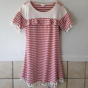Umgee USA striped boxy boho dress Size Large EUC